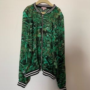 Juicy Couture Sheer Bomber Jacket